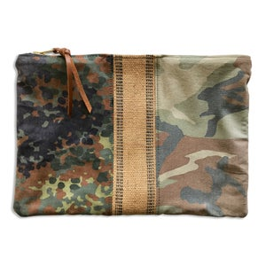 Image of DOUBLE CAMO POUCH - DESERT