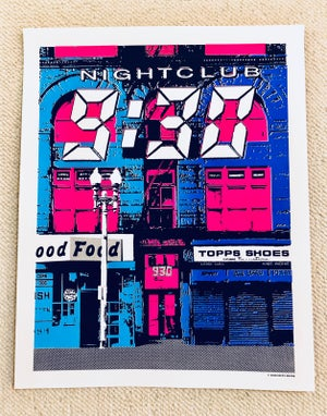 Image of Nightclub 9:30 Silk Screened Art Print