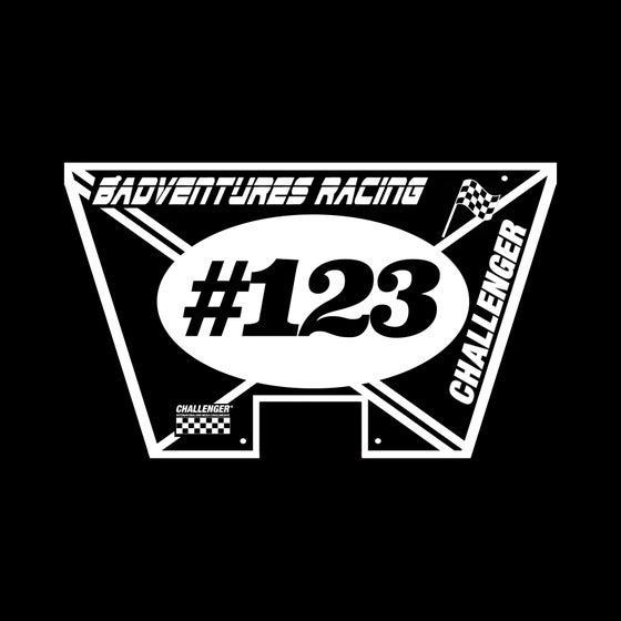 Image of BADVENTURES X CHALLENGER Number Plate **PRE-ORDER**