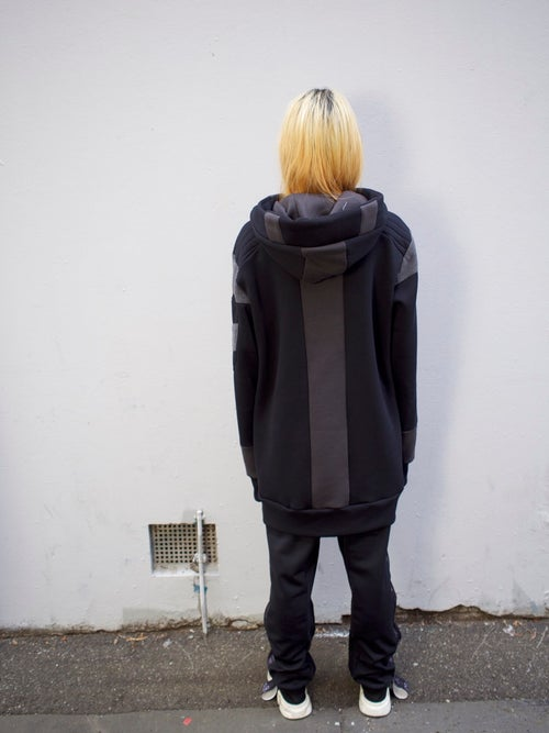 Image of GREY_SCALE SPACE LAB HOODIE