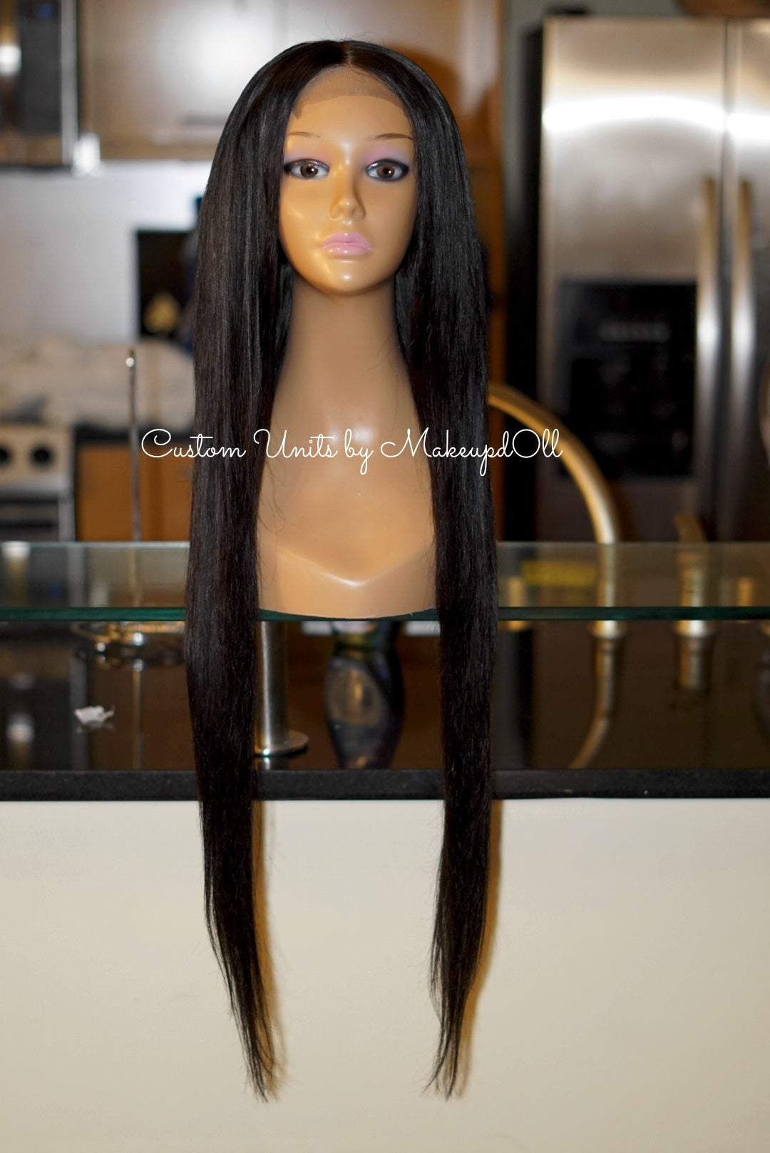 "Image of Brazilian Straight 28"" Custom Lace Closure Wig!"
