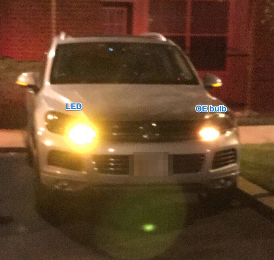 Image of Front Turn Signal LED Bulb Fits: Volkswagen Touareg
