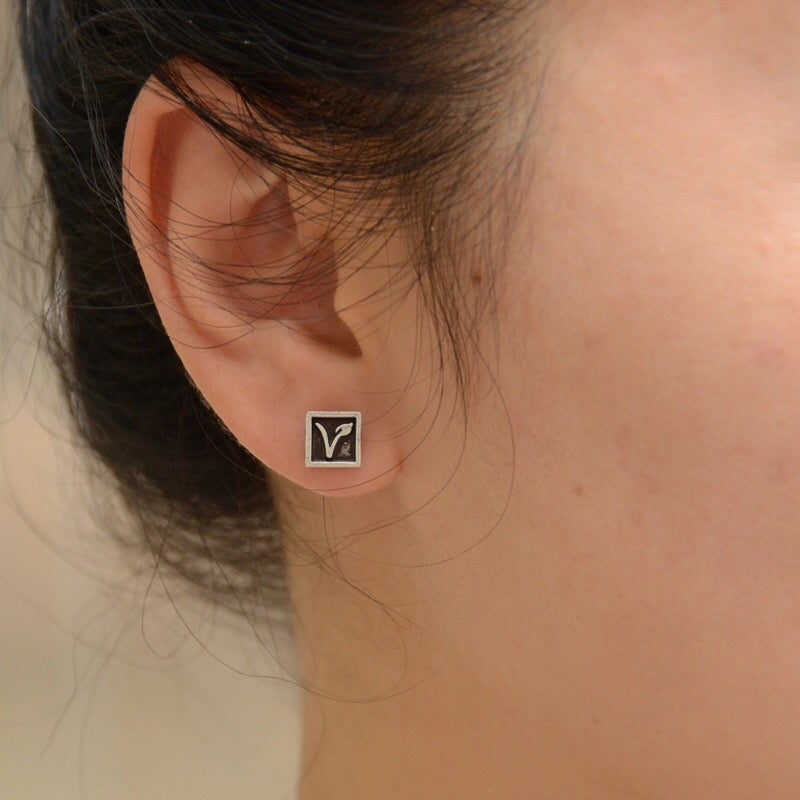 Image of Vegan Symbol Earings