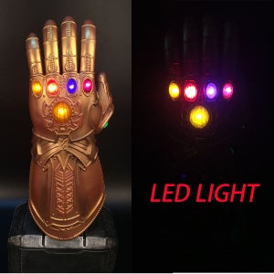 Image of Thanos LED Glowing Lights Infinity War Gauntlet Glove Avengers 3 Cosplay Prop
