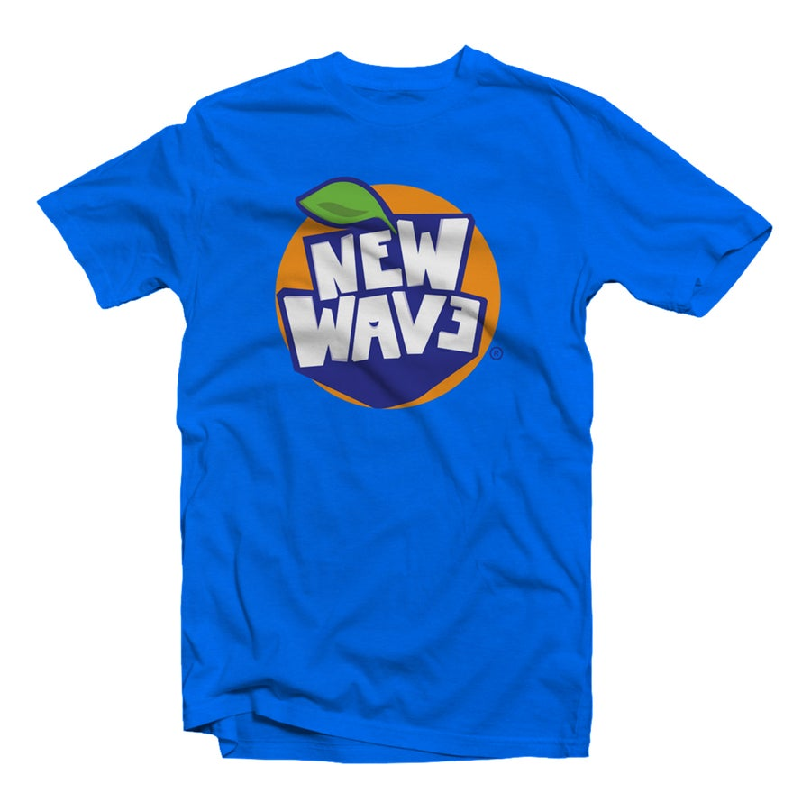 "Image of T-SHIRT ""NEW WAVE"" SAPHIRE"
