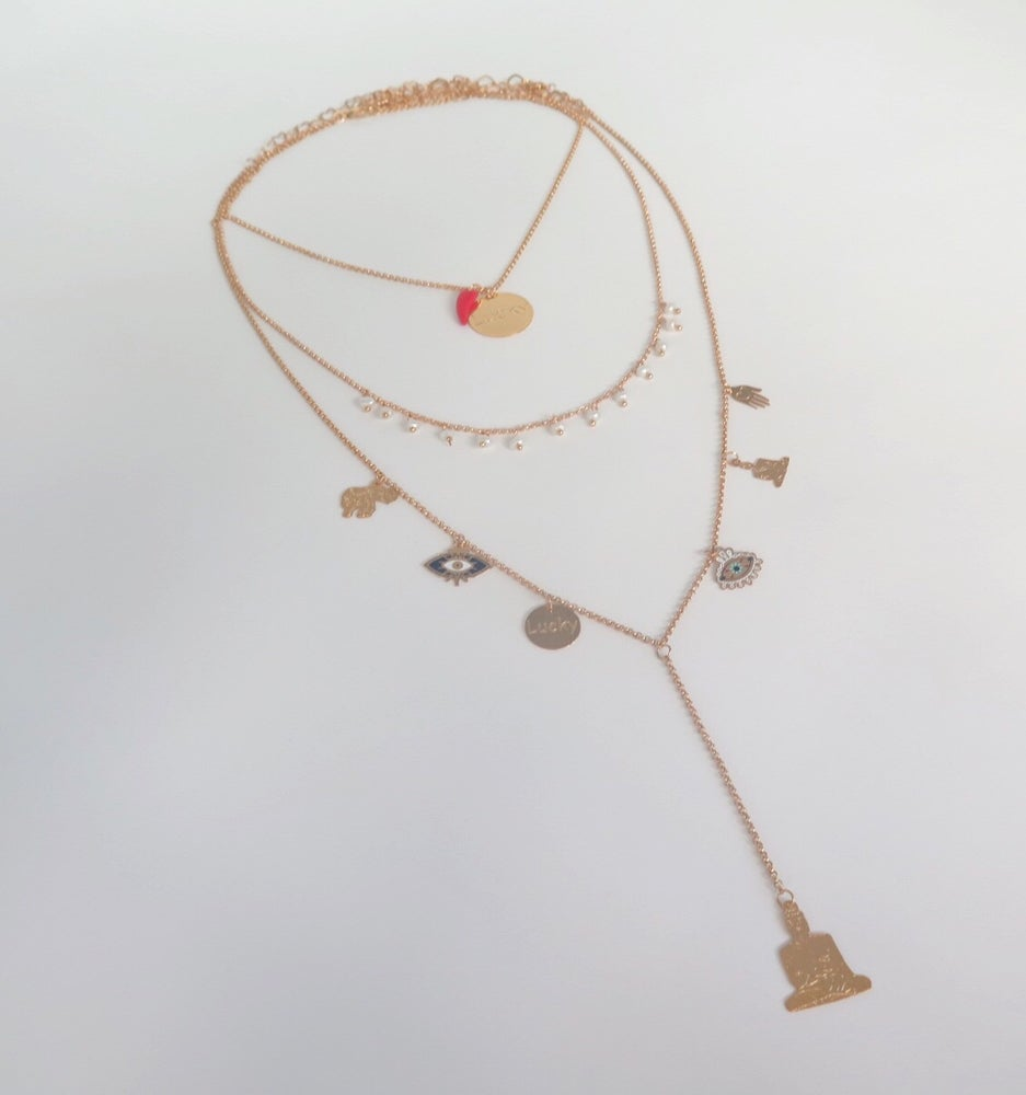 Image of Triple Lucky Pearls Necklace