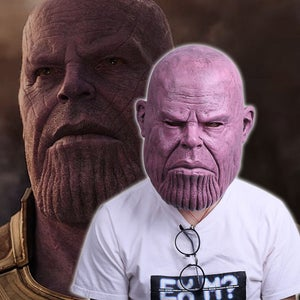 Image of 2018 Thanos Pink Version Face Mask Avengers 3 Infinity War Replica Prop Mask HQ
