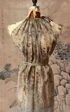 eco print silk fairy dress