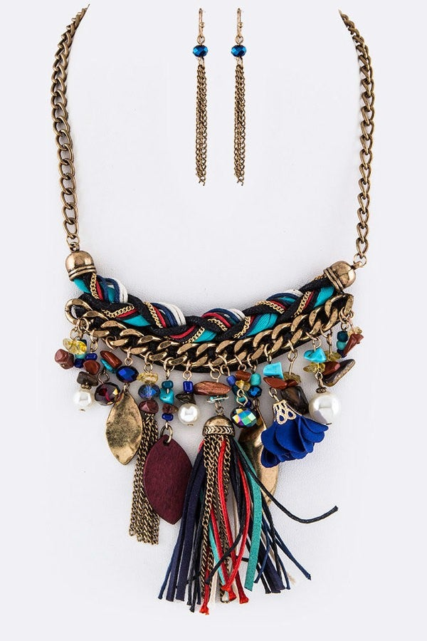 Image of Tassle Statement Necklace