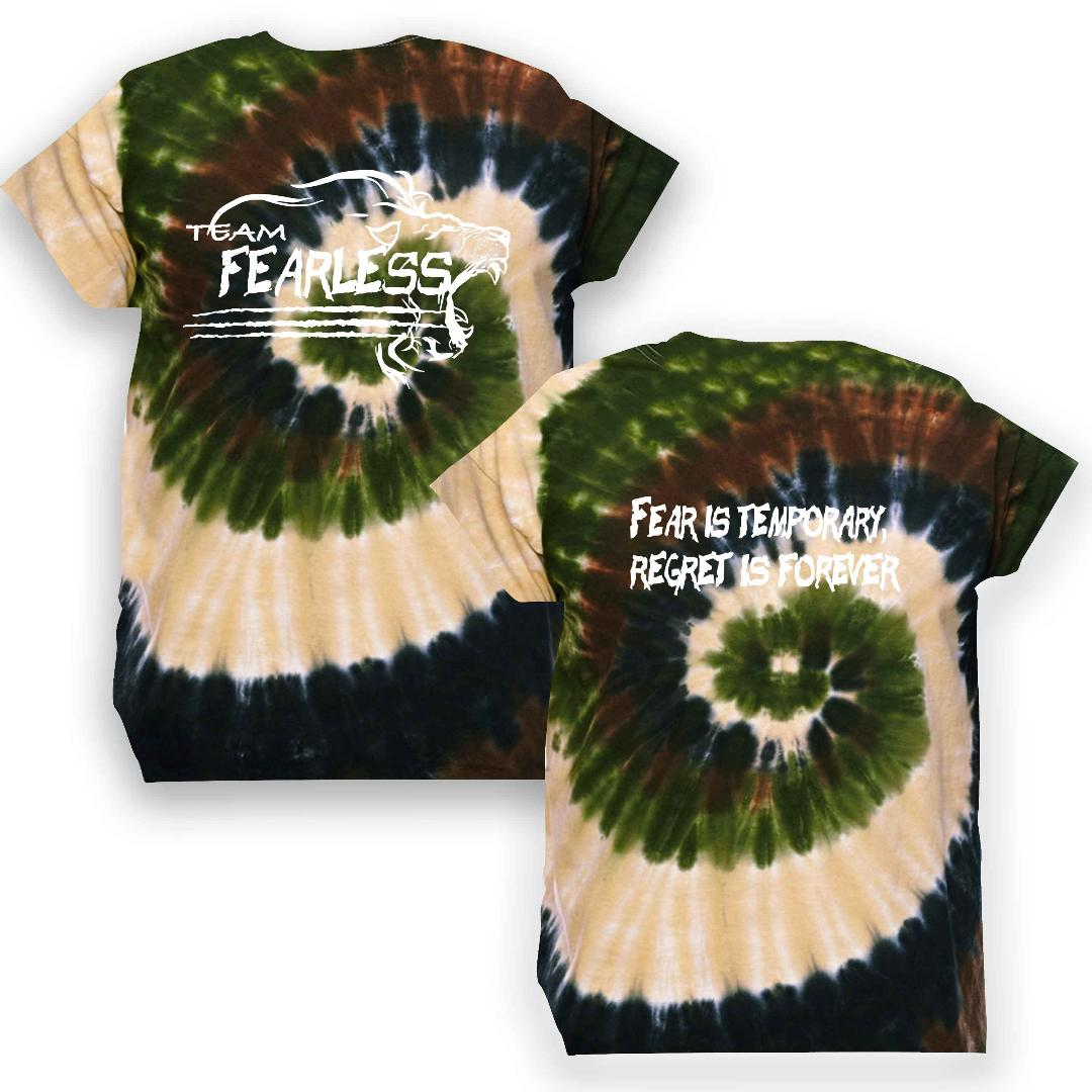 Image of NEW ARRIVAL!! TEAM FEARLESS TYE DIE T'S!! 3 COLORS!!