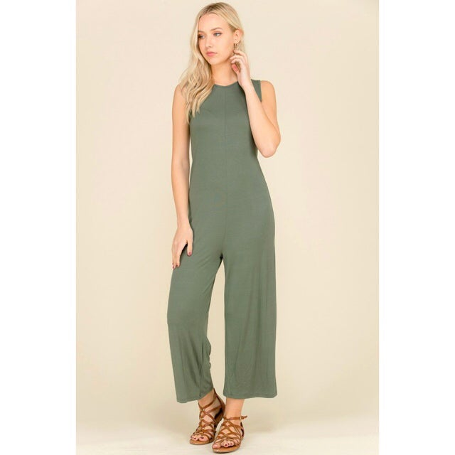 Image of Kris Olive Jumpsuit