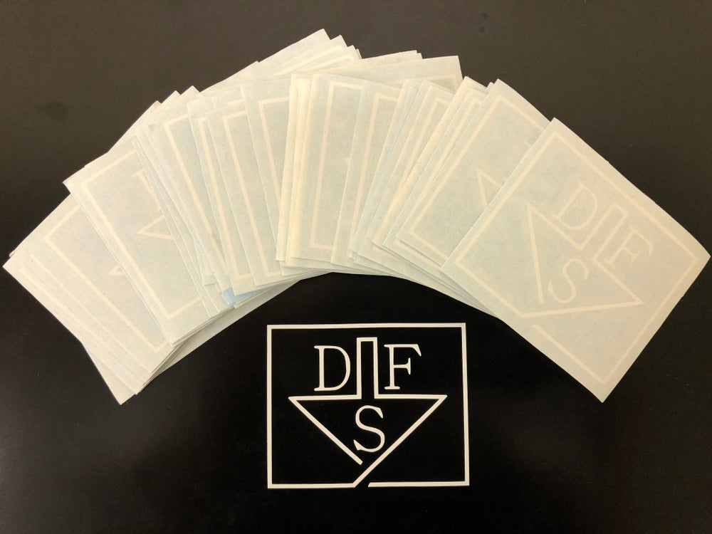 Image of DFS logo sticker