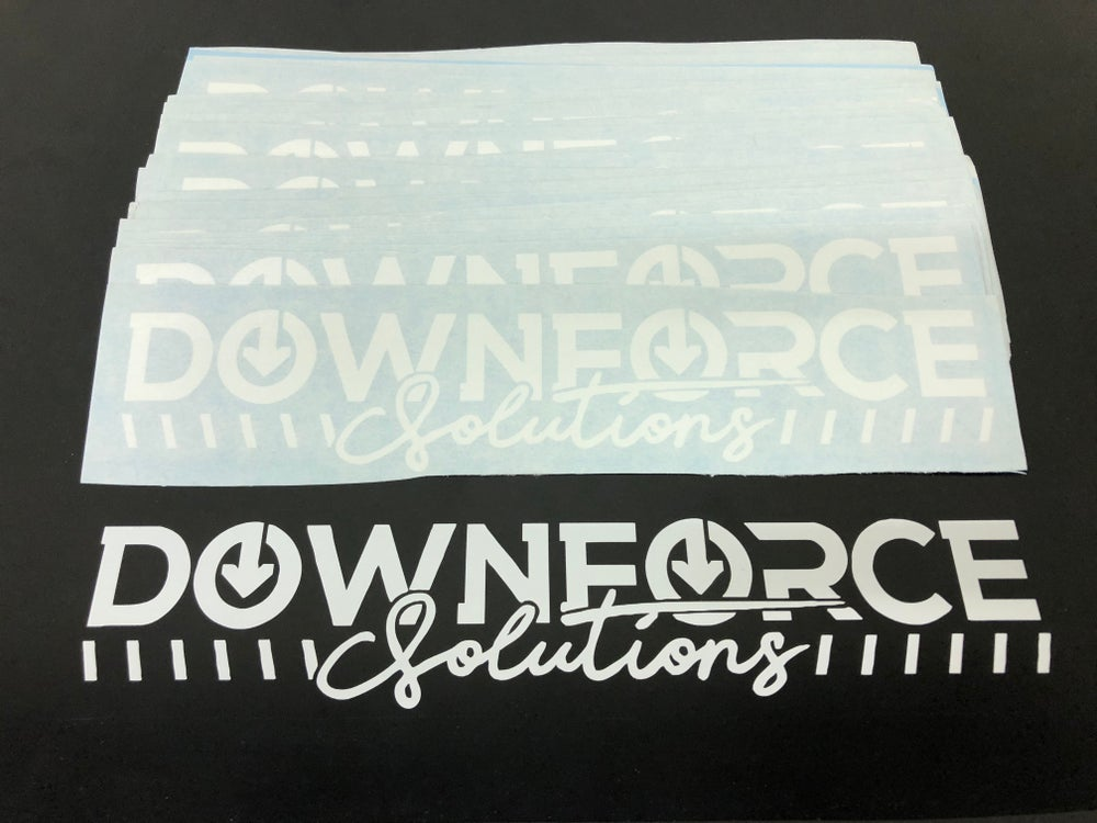 Image of Downforce Solutions banner style decal