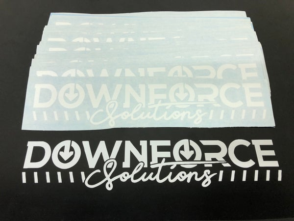 Image of Downforcesolutions banner style decal