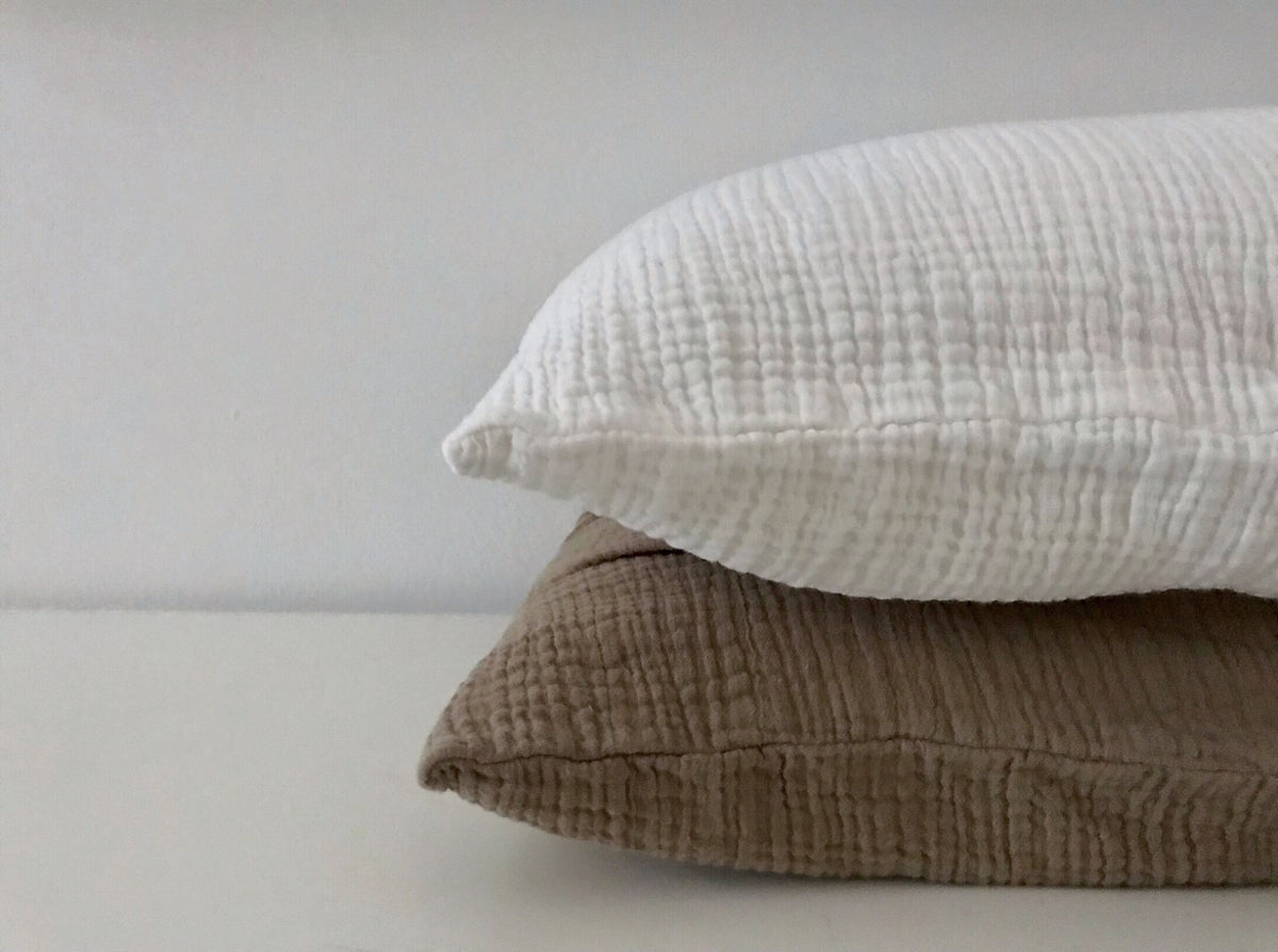 Image of cotton gauze pillowcase