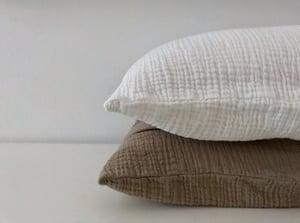 Image of cotton gauze duvet cover set