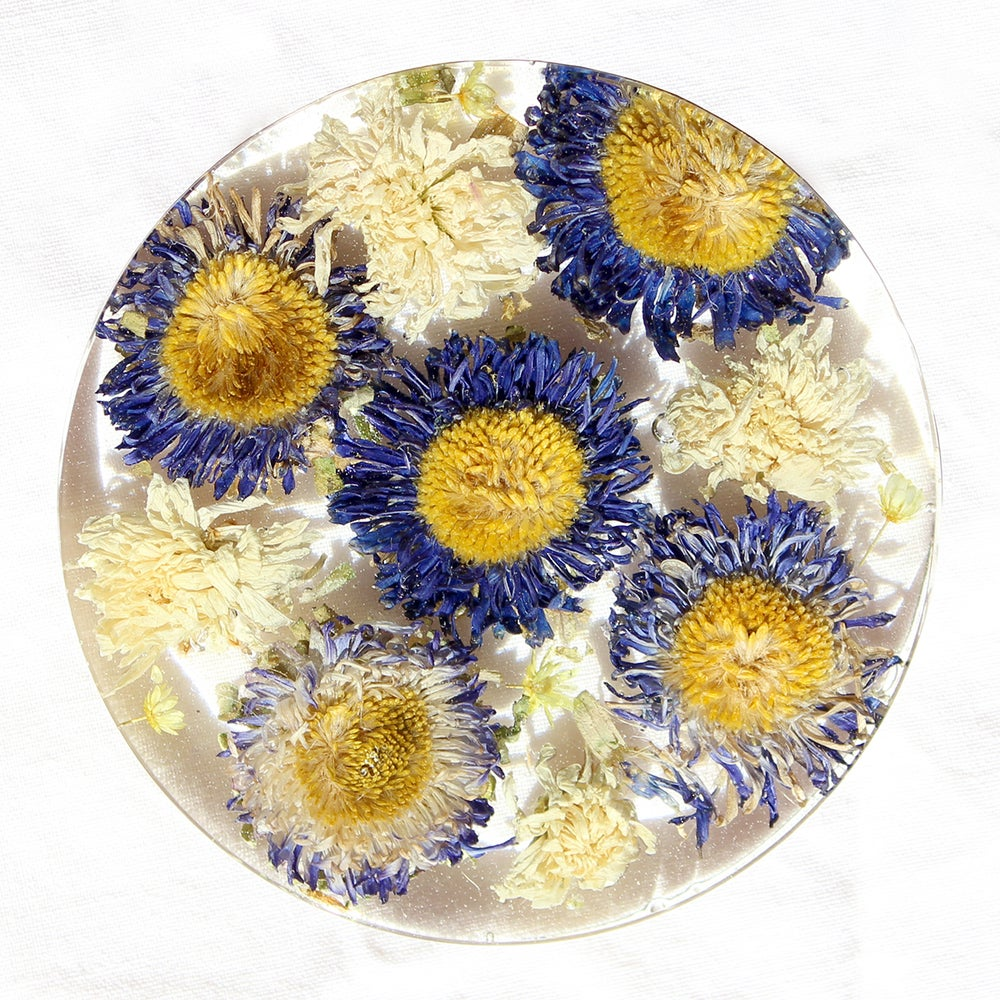 Image of Blue Flower Coaster