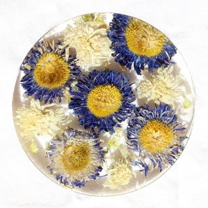 Image of Blue Flower Coaster