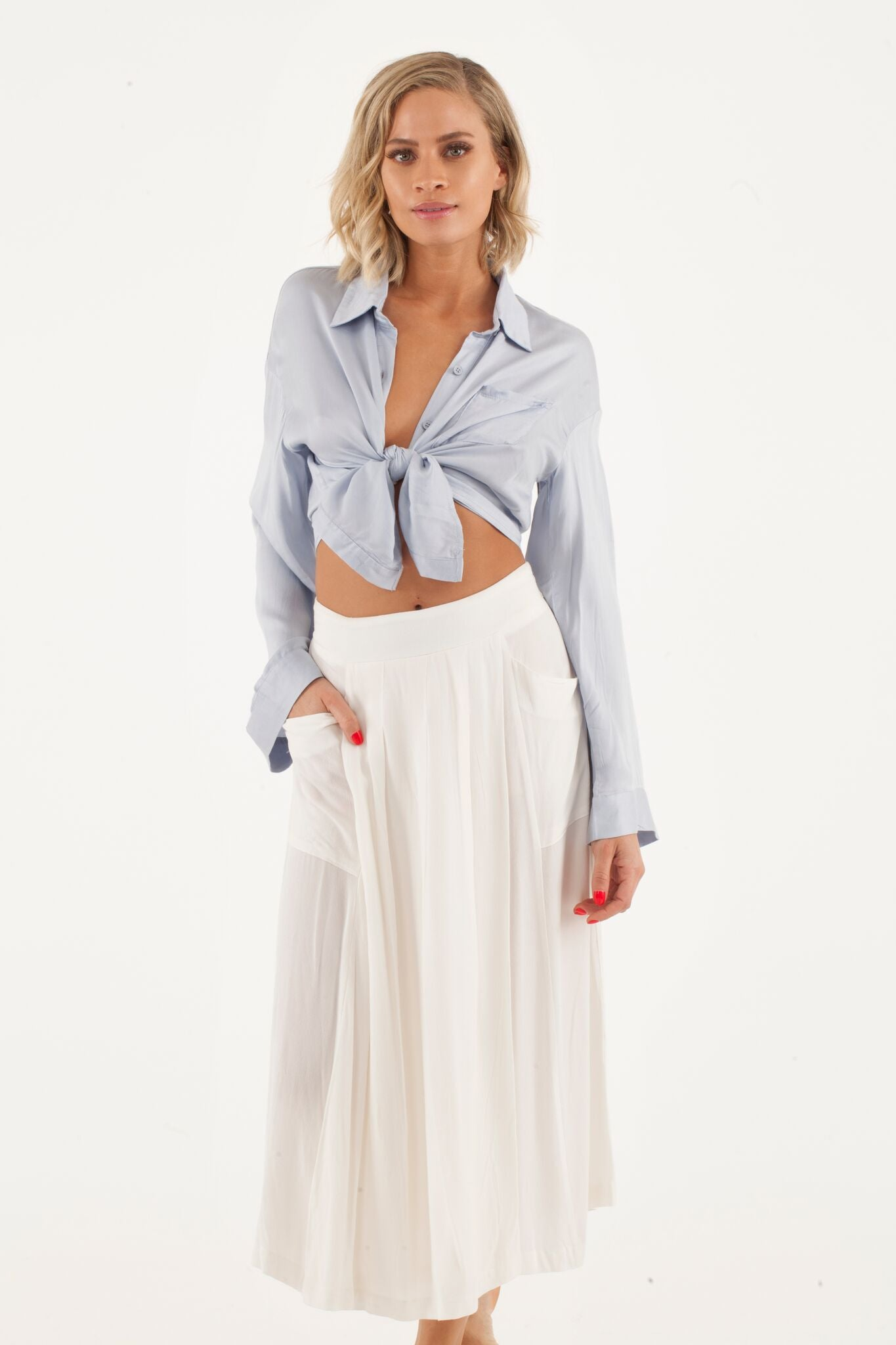 Image of Tied up blouse
