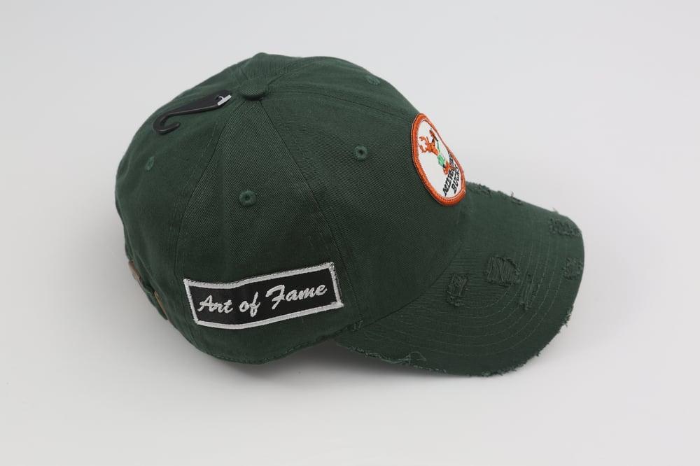 Image of Bucks Hunter Green Distressed Dad Hat