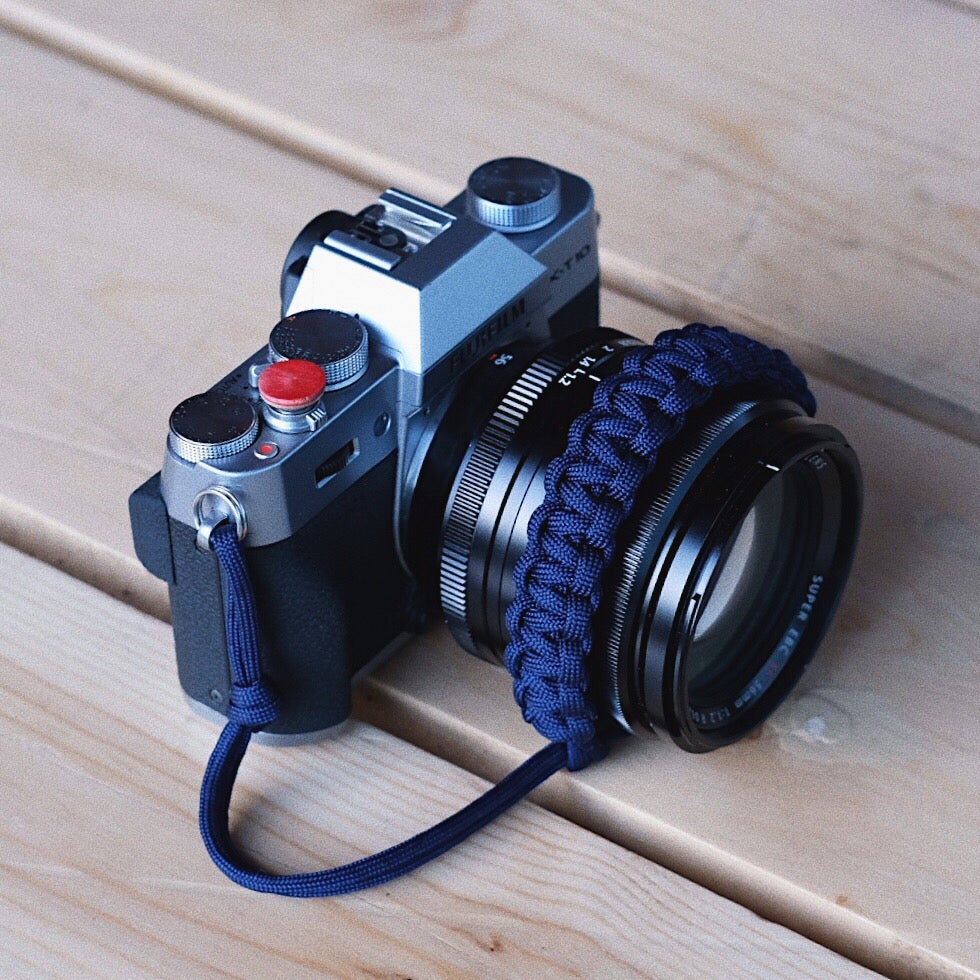 Image of Midnight blue adjustable camera wrist strap