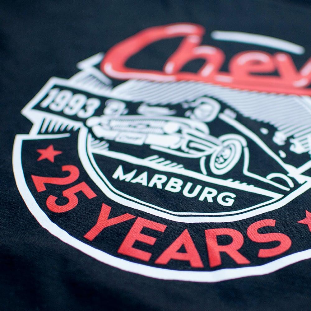 Image of Chevy »25 YEARS« Shirt Women Black