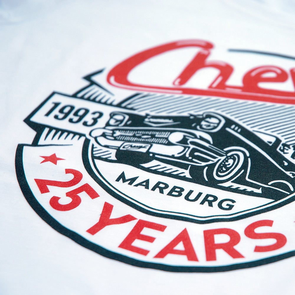 Image of Chevy »25 YEARS« Shirt Women White