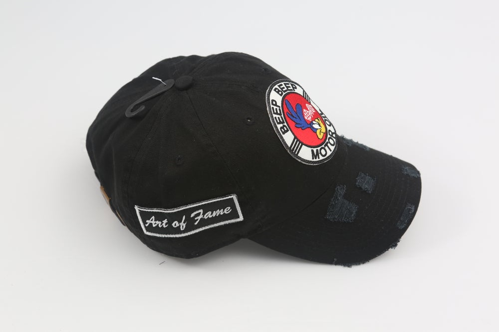 Image of Roadrunner Beep Beep Black Distressed Dad Hat