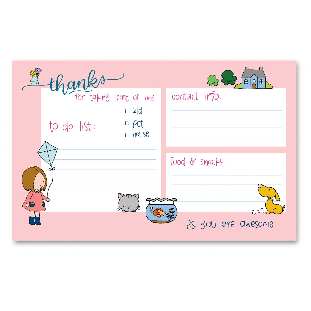 Image of Thanks for Taking Care Notepad