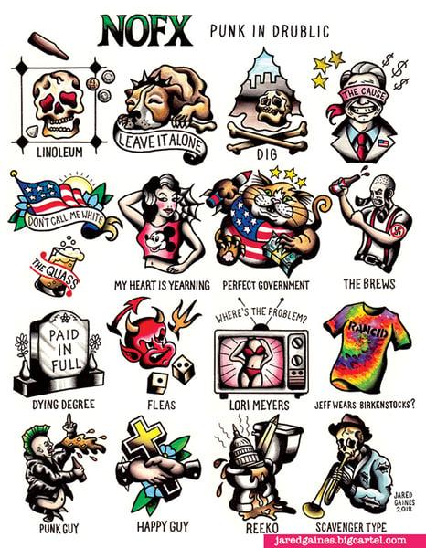 Image of NOFX - Punk in Drublic print