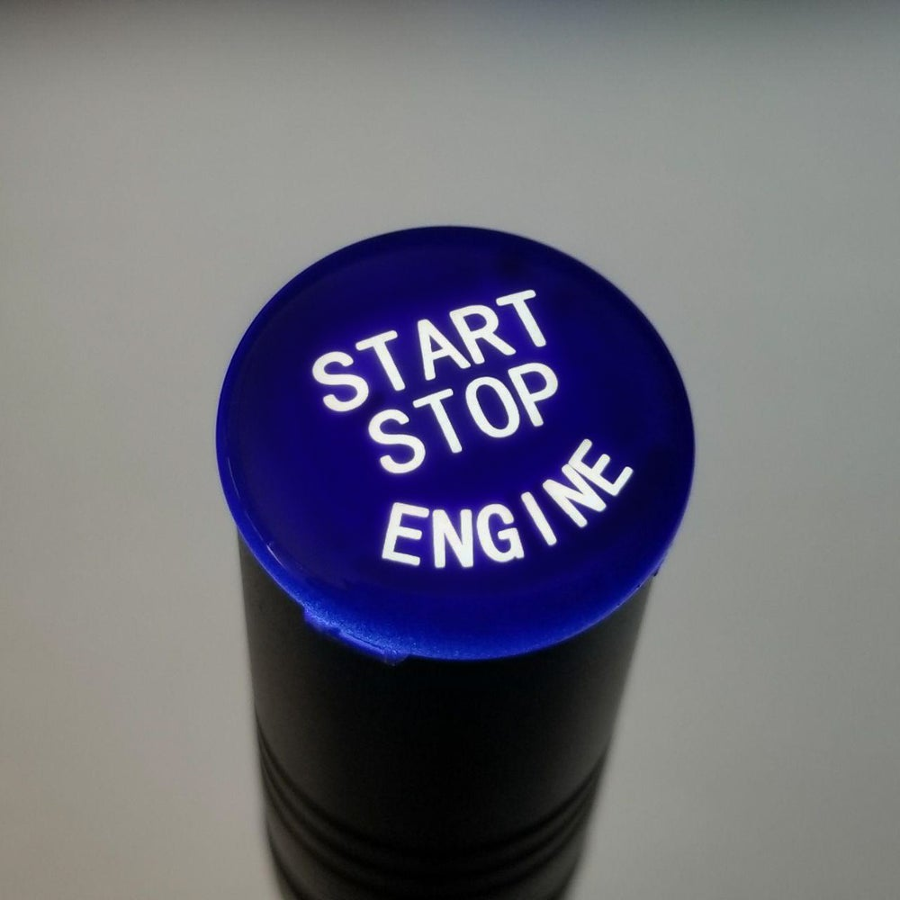 Image of Gloss Blue Push Start Button (NEW)