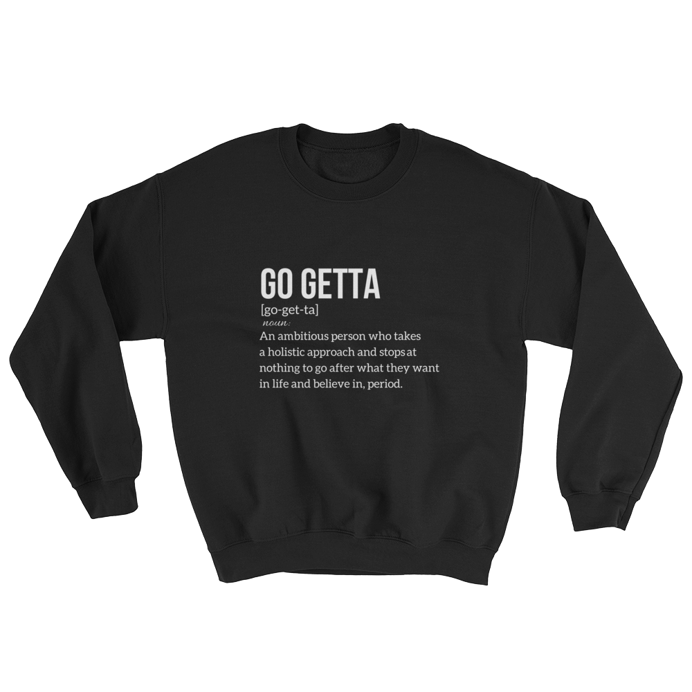 Image of Go Getta Definition Unisex Sweatshirt Black/Navy