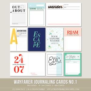 Image of Wayfarer Journaling Cards No.1 (Digital)
