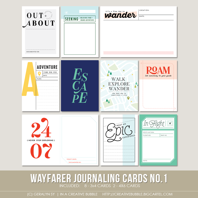 Image of Wayfarer Journaling Cards No.1 (Digital)
