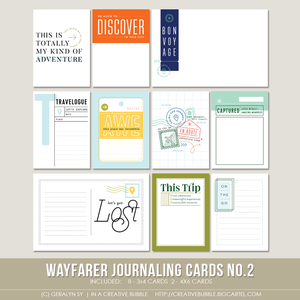 Image of Wayfarer Journaling Cards No.2 (Digital)