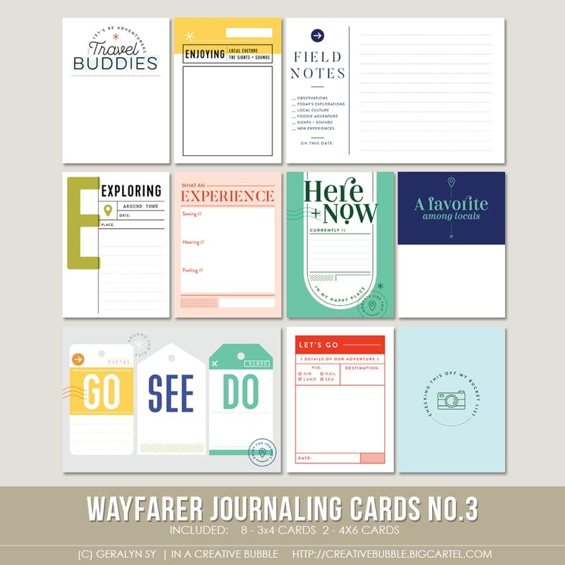 Image of Wayfarer Journaling Cards No.3 (Digital)