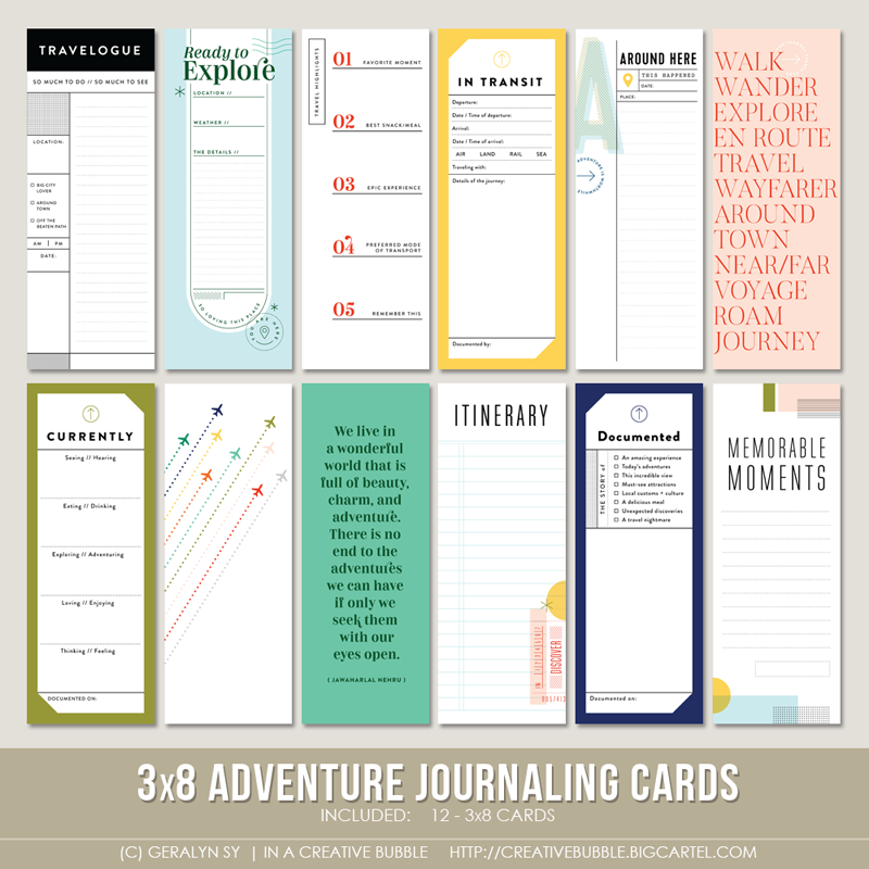 Image of 3x8 Adventure Journaling Cards (Digital)