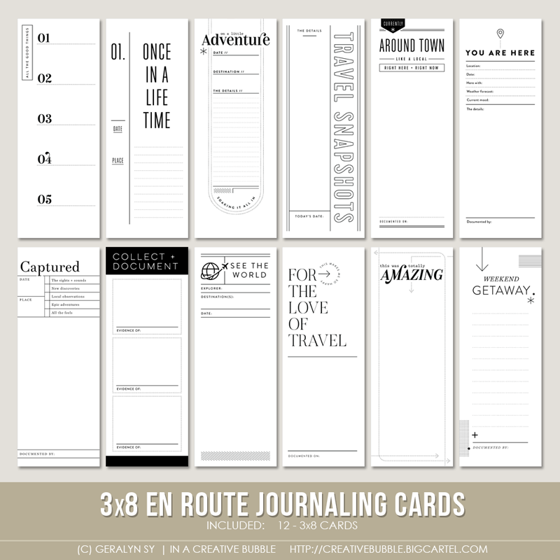 Image of 3x8 En Route Journaling Cards (Digital)