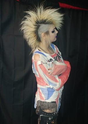 Image of Sex Pistols God Save The Queen bondage shirt Union Jack