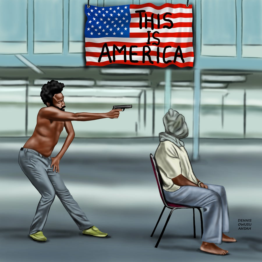 "Image of ""THIS IS AMERICA"" Stretched Canvas Print 30 x 40"