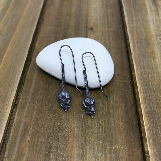 Image of Black Rose Earrings, RAM931E