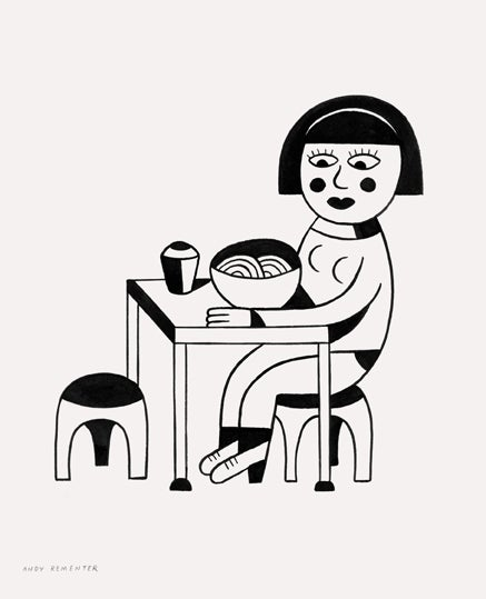 Image of Andy Rementer - Table for one