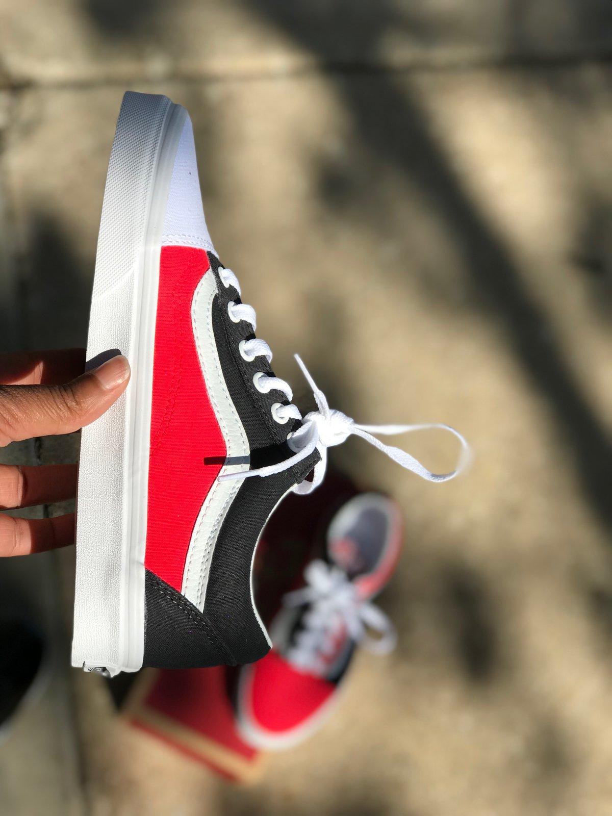 Image of Red & Black Vans (Top 3 Inspired)