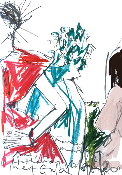 Image of Anne, Frances, and Adut MetGala 2018