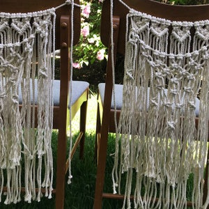 Image of Boho Macrame Chair Garland