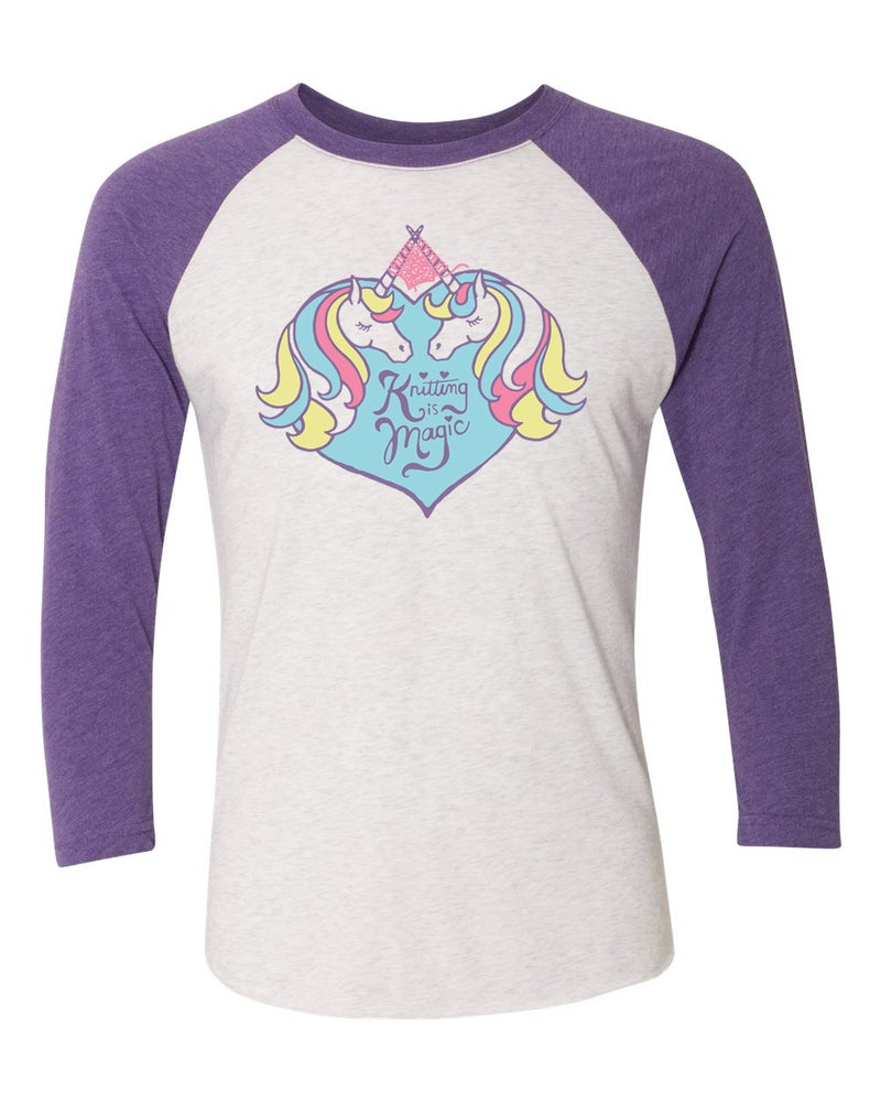 Image of Unicorn Raglan (Purple)