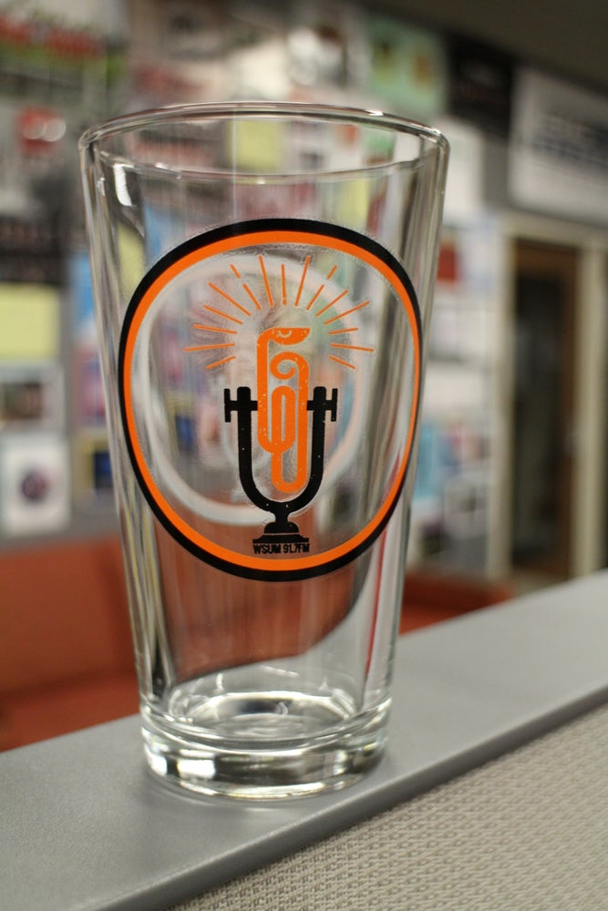 Image of WSUM Pint Glass - 16oz.
