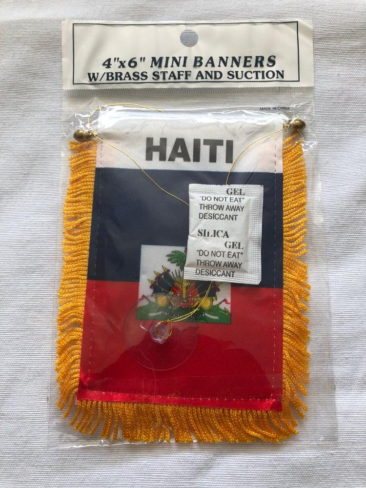 Image of HAITI FLAG MINI BANNER