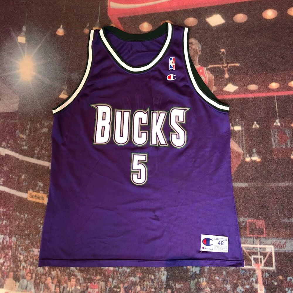 Image of Vintage Champion Milwaukee Bucks Eric Murdock Jersey - Size 48(XL)