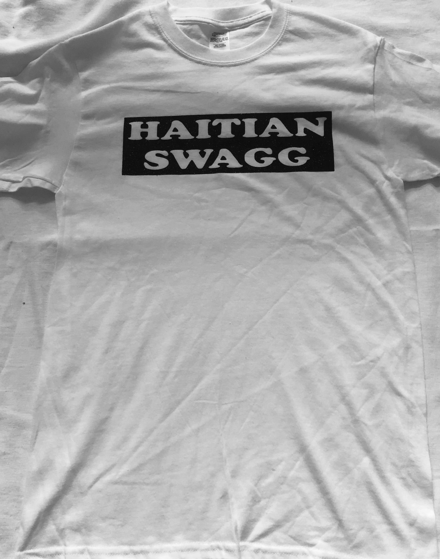 Image of Haitian Swagg shinny black and white